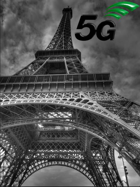 Déploiement de la 5G à Paris (tour Eiffel)
