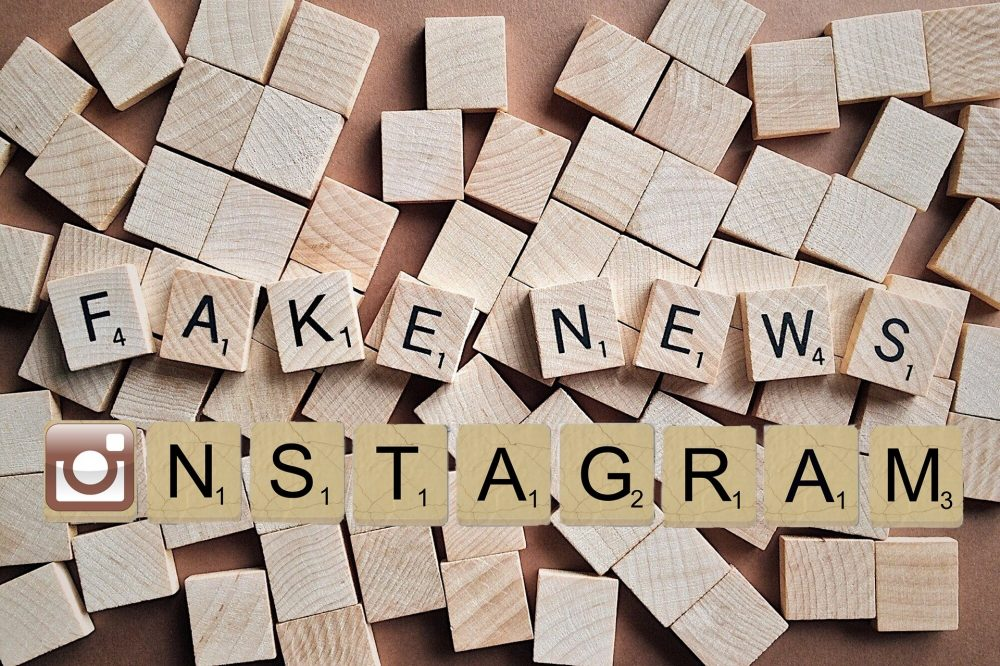 Logo Instagram et fake news